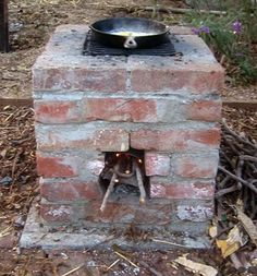 How to build a rocket stove! These are a backyard must- cook anything on this stovetop with a few handfuls of twigs! This blog is amazing and worth a look around! - rugged life