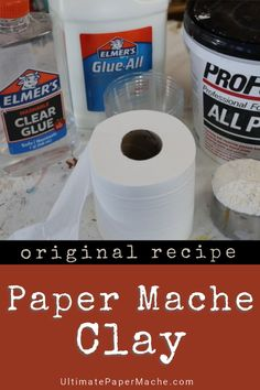 This paper mache clay recipe makes it easy to create beautiful paper mache sculptures and masks. This paper mache clay recipe makes it easy to create beautiful paper mache sculptures and masks. Paper Mache Diy, Paper Mache Paste, Making Paper Mache, Paper Mache Projects, Paper Mache Sculpture, Diy Paper, Paper Crafts, Paper Sculptures, 3d Projects