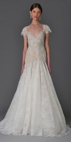 The Prettiest Spring 2017 Wedding Dresses from Bridal Fashion Week - Marchesa…