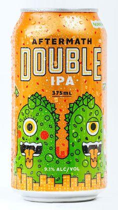 17 Illustrated Beer Cans We Love - PintoPin Craft Beer Brands, Craft Beer Labels, Wine Labels, Beer Can Art, Beer Art, Design Food, Design Design, Graphic Design, Design Package