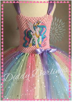 Sparkly Princess Celestia Tutu Dress. My Little by DiddyDarlings