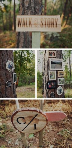 *I love this idea of having guests walking through the woods to the ceremony...telling your love story along the way!