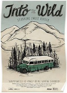 Into The Wild Illustrated Film Poster Posters