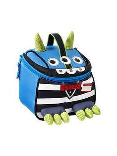 Way cute boy lunchbox    Monster lunch bag   Gap