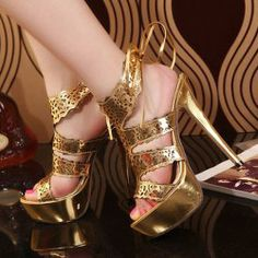 Stunning Women's Sandals With Openwork and Stiletto Design