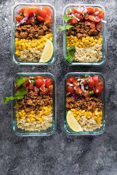 Turkey Taco Lunch Bowls (Meal Prep) Recipe | Yummly