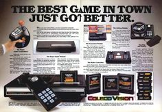 The best game in town (1983). #coleco #bitstory