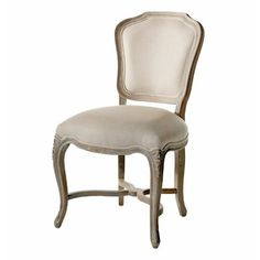 Amazon Com Simone French Provincial Carved Oak Linen Dining Chair