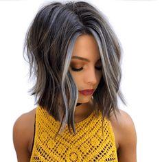 Medium Hair Styles, Curly Hair Styles, Medium Curly, Long Curly, Gray Hair Highlights, Hair Color And Cut, Hair Affair, Hair Transformation, Great Hair