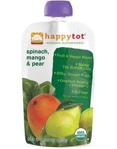 Happytot Organic Spinach, Mango & Pear Squeeze Pouch 4.22 oz