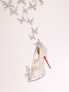 "Christian Louboutin designs ""The Cinderella Shoe"" Not my imagination of cinderella's shoe what do you guys think????????"