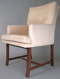 Set of Walnut Dining Chairs by Harvey Probber