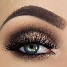 Beautiful eye makeup ideas to try , nude eye makeup ,brown golden eye makeup #makeup #eyemakeup