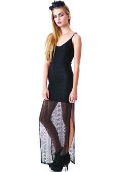 Aurey 3+1 The Mourning Lace Maxi Dress