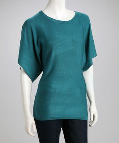 Take a look at this Aqua Breeze Dolman Sweater by Style Redefined: Women's Apparel on #zulily today!