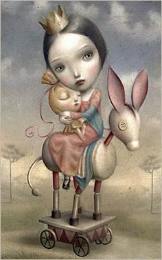 Surrealist Fairy Tale Illustrations by Nicoletta Ceccoli Mark Ryden, Art And Illustration, Portrait Illustration, Art Illustrations, Fashion Illustrations, Tom Bagshaw, Arte Lowbrow, Art Fantaisiste, Whimsical Art