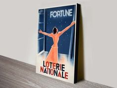 Loterie-Nationale-Vintage-Advert-Poster-Wall-Art  http://www.canvasprintsaustralia.net.au/product/loterie-nationale-vintage-advert-poster-wall-art/