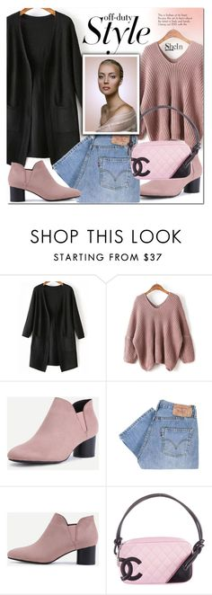 """""""Shein 9"""" by e-mina-87 ❤ liked on Polyvore featuring WithChic, Levi's and Chanel"""