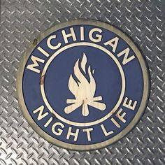 Michigan Night Life Wood Carved Sign by MotorcityDesign on Etsy