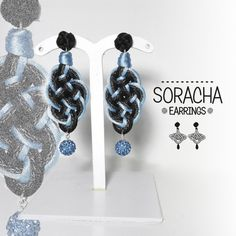 Soracha 4. Orecchini neri. Black earrings. lightweight earrings. orecchini in tessuto. di FabylaStore su Etsy