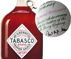Tabasco gallon a day giveaways