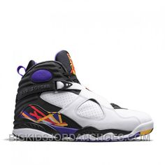 Authentic 305381-142 Air Jordan 8 Retro White Infrared 23-Black-Bright  Concord Style 032aeeb07
