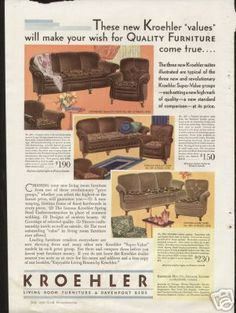 1000 images about 1930 39 s on pinterest 1930s living for P s furniture flyer