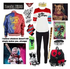 """""""Harley Quinn. Nice to Meetcha."""" by kelsieknebl ❤ liked on Polyvore featuring Frame Denim and harleyquinn"""