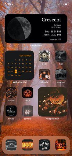 Iphone Wallpaper App, Halloween Wallpaper Iphone, Iphone Wallpaper Tumblr Aesthetic, Phone Lockscreen, Iphone Home Screen Layout, Iphone App Layout, Ios Phone, Phone Themes, Iphone Design