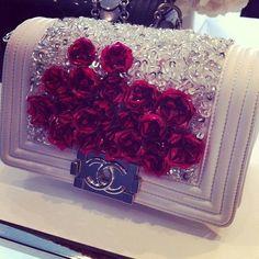 Floral Embellished Chanel Bag
