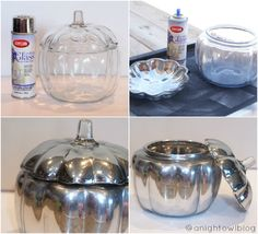 Pottery Barn Knock-Off Mercury Pumpkin Tutorial @Kimberly | A Night Owl Blog
