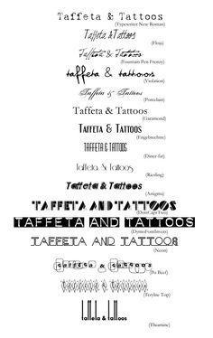 (Taffeta & Tattoos fonts