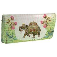 Papaya Art Fancy Elephant Wallet says Money Magnet on the back <3