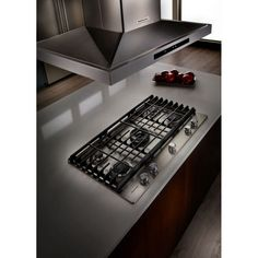 Enjoy The Features Found In This KitchenAid Gas Cooktop In Stainless Steel  With Five Burners Including A Professional Dual Tier Burner And A Simmer  Burner.