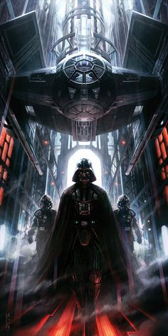 Star Wars art - Darth Vader tie fighter Artist unknown