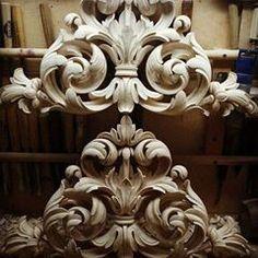 『AHMAD ALHAJ IBRAHIM』 (@ahmad_alhaj_ibrahim) • Instagram photos and videos Wood Carving Designs, Wood Carving Art, Wood Art, Filagree Tattoo, Craft Wood Pieces, Baroque, Ornament Drawing, Plaster Art, Ceiling Art