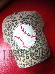 Be the cutest fan at the ballpark!! Tons of custom caps available at iShopLaRue.com!