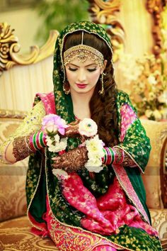 Related image by frances Pakistani Bridal Makeup, Bridal Mehndi Dresses, Wedding Dresses, Indian Bridal, Muslim Women Fashion, Indian Fashion, Wedding Wear, Wedding Attire, Wedding Couples