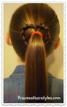 braided heart ponytail tutorial #hearthairstyle