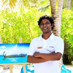 Achchu Waheed, our resident #artist at Velassaru Living.