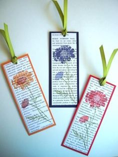 By Jeneen Paparazzi via Stampin' Connection! By Jeneen Paparazzi via Stampin' Connection! Creative Bookmarks, Paper Bookmarks, How To Make Bookmarks, Handmade Bookmarks, Book Crafts, Paper Crafts, Book Markers, Craft Show Ideas, Card Tags