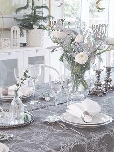 Chamois, diningroom, matsal, nyårsafton, nyårsdukning, newyeartablesetting , kostaboda,Rosenthal