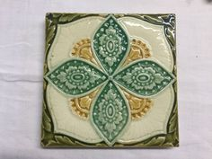 Kachel fliese  JUGENDSTIL FLIESE Maiglöckchen ART NOUVEAU TILE TEGEL CARREAU ...