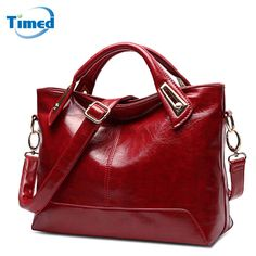 New Women s Handbags Casual All-Match Large Capacity Shoulder Bag Solid Lady  High Quality Genuine Leather + PU Casual Totes fd5589477e684