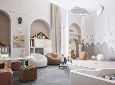 Playing Room on Behance Room Design Bedroom, Playroom Design, Room Interior Design, Kids Room Design, Luxury Kids Bedroom, Baby Playroom, Dream Home Design, Dream Rooms, Girl Room