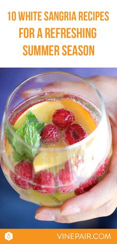 Soak up the summer with 10 of the best White Sangria recipes. See all of these delicious white sangria recipes now!