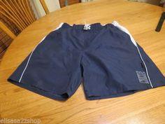 Men's swim trunks board shorts Nike large L mesh inside NEW navy grey TFSS0251