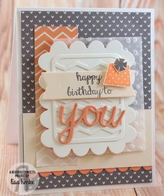 Reverse Confetti Aug. SFYTT- Come Play Along RC products used: Chevrons pretty panels, love note, celebrate cake stamp set, all about you stamp set, double edge scallop border, Tag me, Tag Me too,
