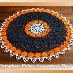 Pumpkin Patch Halloween Doily