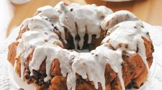 Top Pillsbury® cinnamon rolls with chocolate and vanilla pudding and pie filling mix to make this wonderful coffee cake.